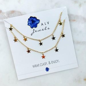 Jewelry - Tiered Star Dangle Necklace